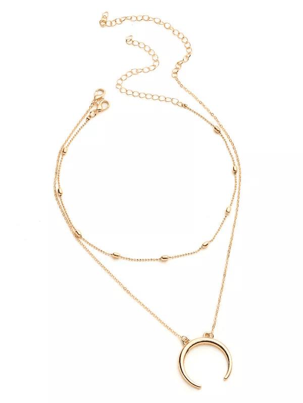 Χρυσό κολιέ choker με διπλή αλυσίδα 3070 0bcf29d7ba1